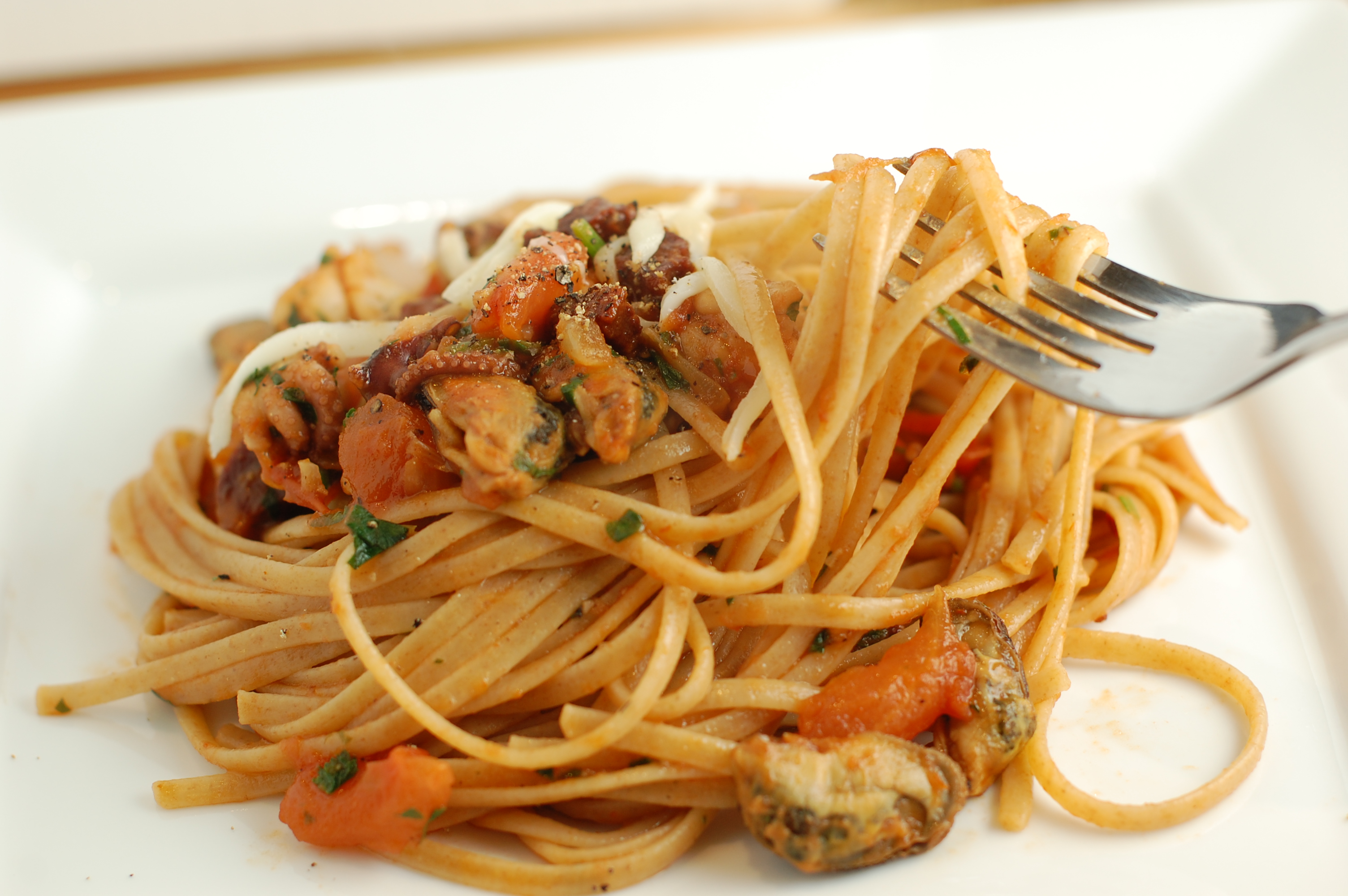 Seafood pasta with Tomato