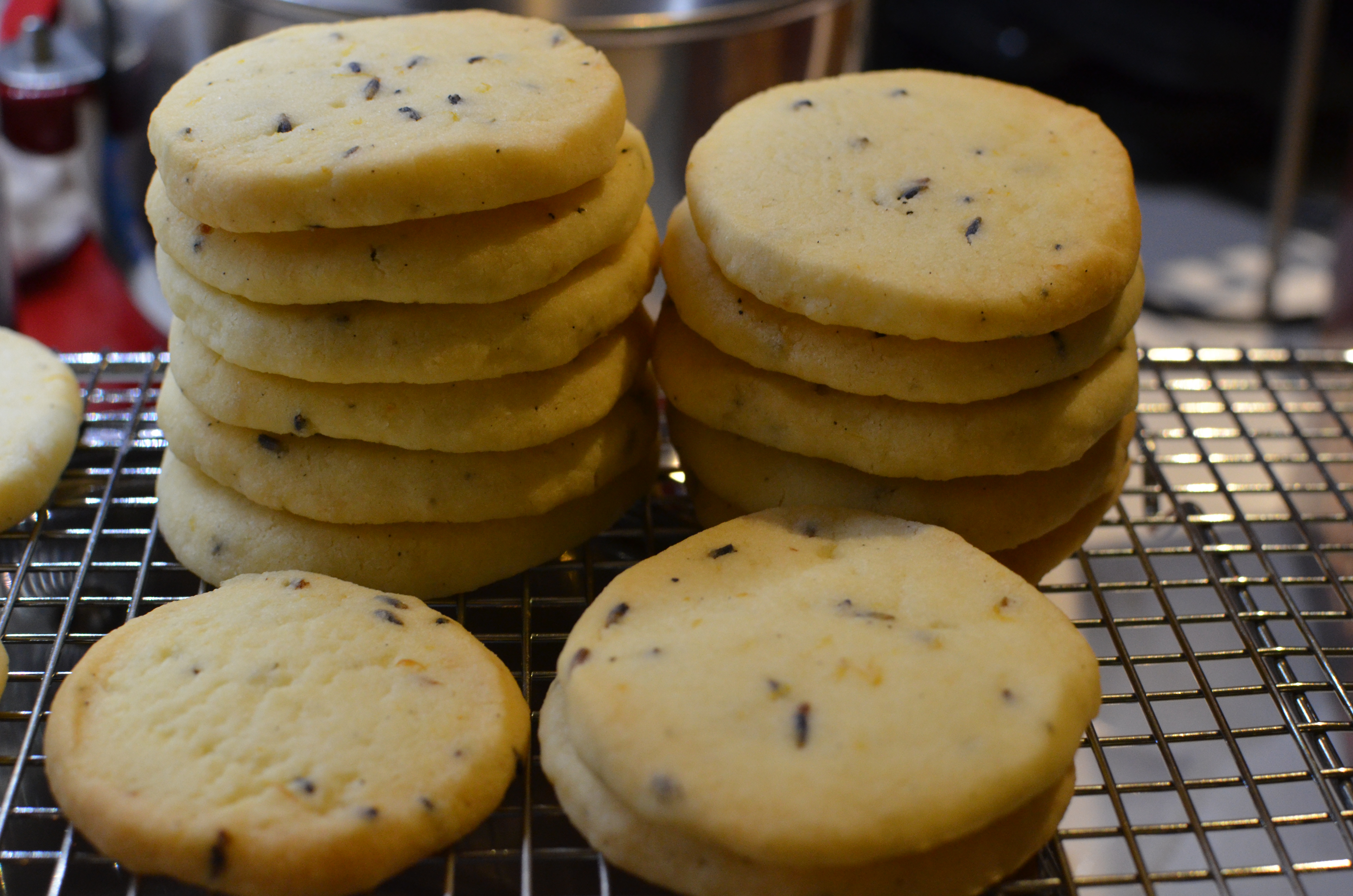 Lavender Shortbread Cookies with Lemon and Vanilla | Grace's Kitchen
