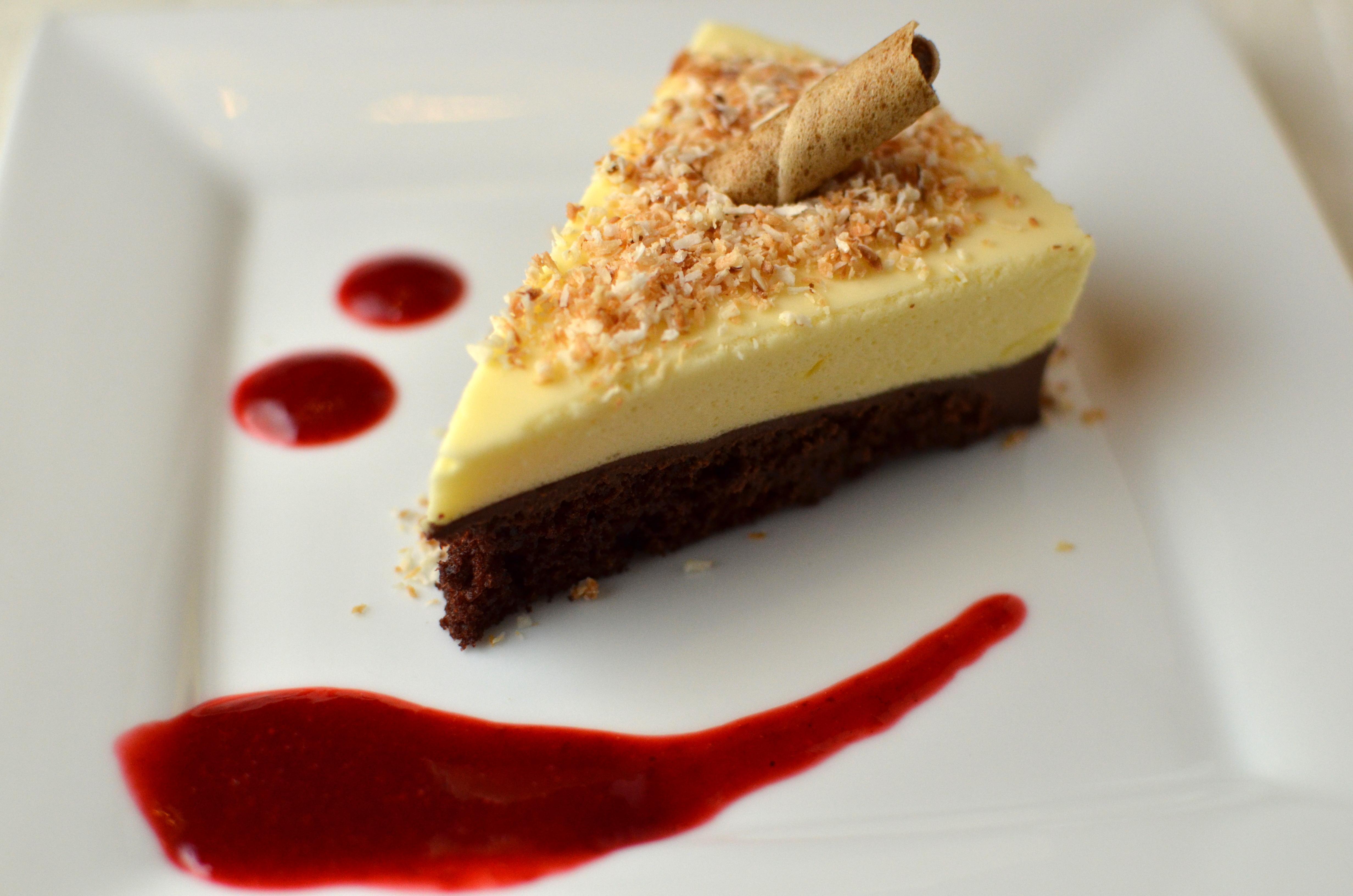 White Chocolate Mousse Dark Chocolate Truffle Cake | Grace's Kitchen